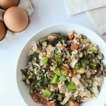 Eggwhite Vegetable Scramble