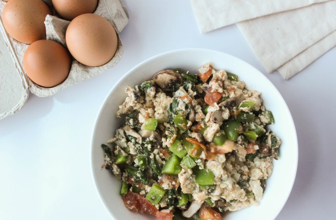 Eggwhite Vegetable Scramble